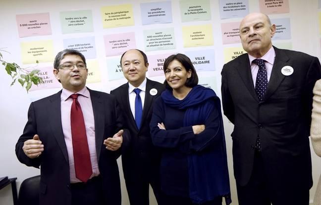 De gauche à droite: Jérôme Coumet, Buon Tan, Anne Hidalgo et Jean-Marie Le Guen