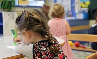 Illustration d'un enfant dans une école maternelle, ici à Rennes.