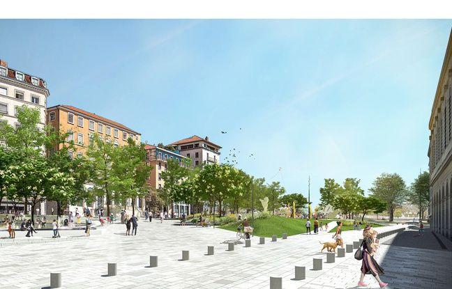 Les places Tolozan et Louis Pradel de Lyon vont subir une refonte complète dès 2023.