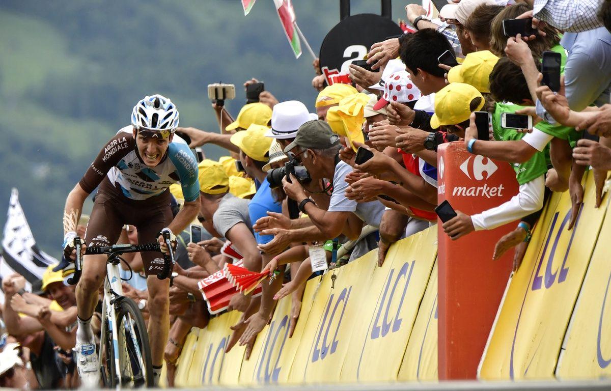 Romain Bardet, vainqueur de la 12e étape du Tour de France, le 13 juillet 2017. – PHILIPPE LOPEZ / AFP