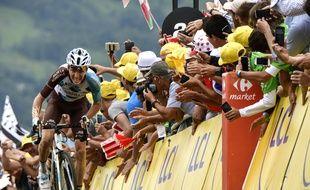 Romain Bardet, vainqueur de la 12e étape du Tour de France, le 13 juillet 2017.