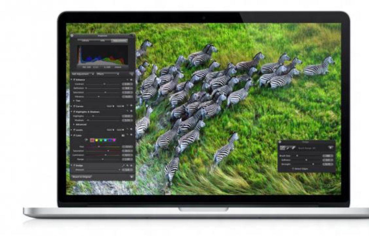 Le MacBook Pro Retina, dévoilé le 11 juin 2012, propose une résolution de 2880x1800 pixels. – DR