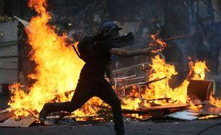 Violences à Santiago du Chili lors des manifestations du 6 décembre 2019.