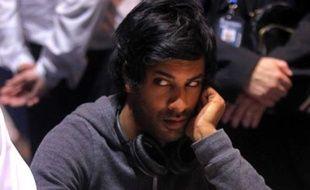 Vikash Dhorasoo lors d'une épreuve du European Poker Tour à Monte-Carlo, le 26 avril 2010.