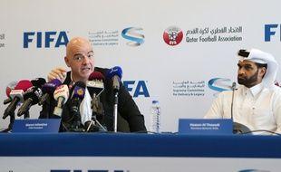 Hassan Al-Thawadi, à droite, avec Gianni Infantino