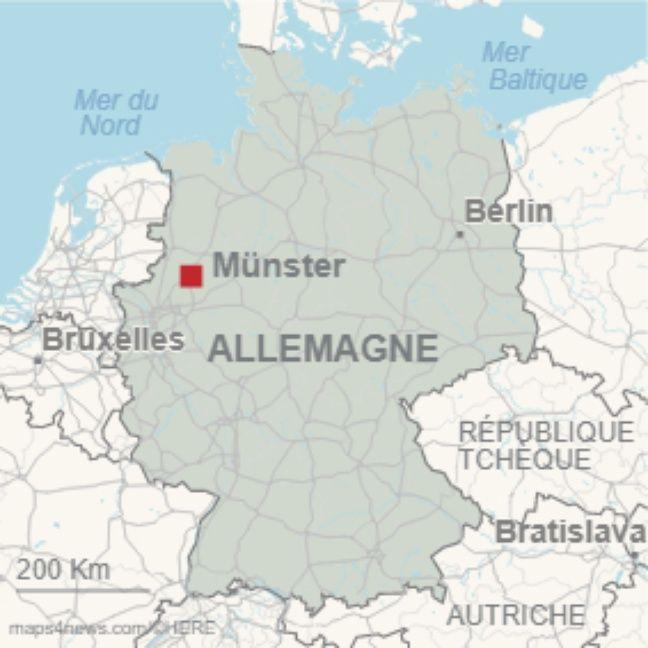Münster en Rhénanie du Nord-Westphalie au nord-ouest de l'Allemagne.