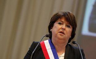 La socialiste Martine Aubry, après sa réélection en tant que maire de Lille en 2014
