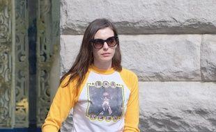 L'actrice Anne Hathaway dans les rues de Manhattan