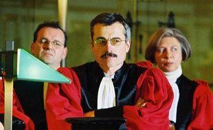 Le juge Renaud Van Ruymbeke, à la cour d'appel de Rennes, le 20 janvier 2000.