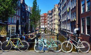 Illustration de la ville d'Amsterdam aux Pays-Bas