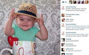 Capture d'écran d'un Baby mugging sur instagram, le 20 juin 2013.