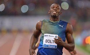 Usain Bolt lors du meeting de Rome le 6 juin 2013.