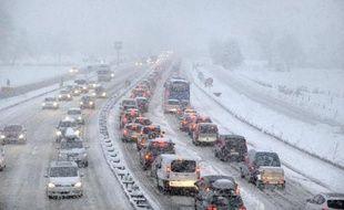 Illustration d'un embouteillage à Albertville en Savoie.