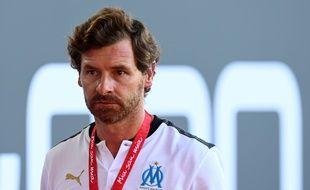 André Villas-Boas lors du match amical Bayern Munich - Olympique de Marseille, le 31 juillet 2020.