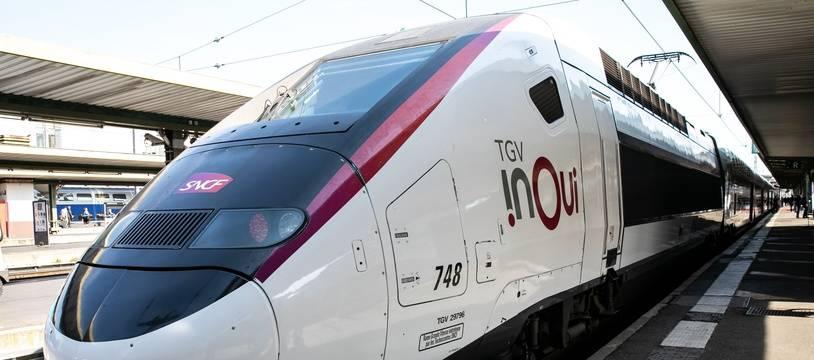 Illustration d'un TGV Inoui.
