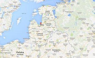 Riga, en Lettonie.