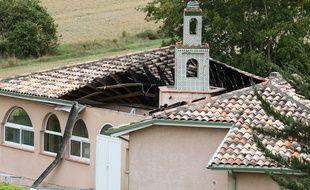 La mosquée d'Auch, dans le Gers, en grande partie détruite par un incendie criminel le 23 août 2015.