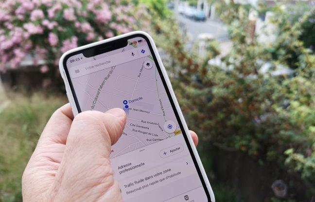 Avec Google Maps, il est simple de définir un lieu de stationnement.