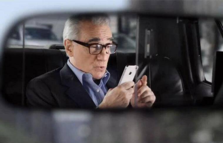 Martin Scorsese dans un spot publicitaire Apple.
