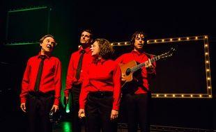 Les Goguettes en trio, mais à quatre en concert au Café de la danse à Paris,