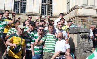 Les supporters du Celtic à Rennes, quelques heures avant le match face au Stade Rennais.