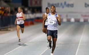 Caster Semenya lors d'un 200m à Pretoria, le 13 mars 2020.