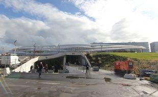 Le parvis nord de la gare de Rennes, encore en travaux. Ici le 17 octobre 2019.