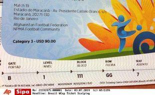Des billets pour la Coupe du monde 2014 au Brésil.