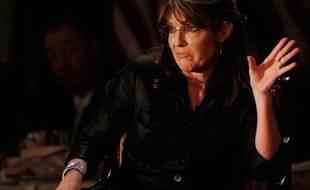L'ancienne gouverneur de l'Alaska Sarah Palin en meeting à Woodbury, New York, le 17 février 2011.