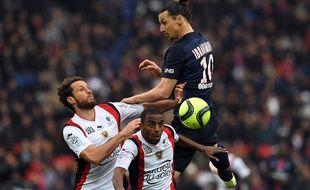 Zlatan Ibrahimovic contre Nice, le 2 avril 2016.