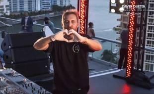 Le DJ David Guetta lors de son concert à Miami en avril