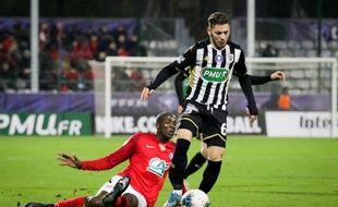 Farid El Melali, attaquant du Sco d'Angers, ici contre Rouen.