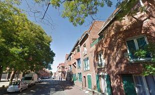 La rue Archimède, à Roubaix.