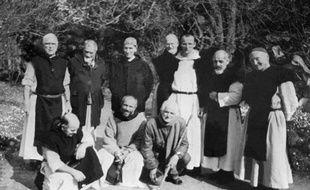 Photo non datée des  moines de Tibéhirine.