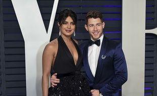 Le chanteur Nick Jonas et sa femme, l'actrice Priyanka Chopra.