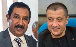 Mohamed Ayachi Ajroudi, porteur du projet de rachat de l'OM, et Mourad Boudjellal, qui serait alors le nouveau président du club.