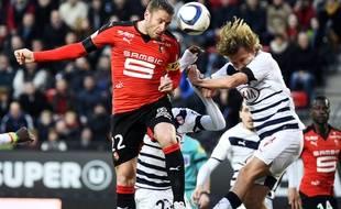 Sylvain Armand et son désormais coéquipier à Rennes Clément Chantôme, lors du SRFC-Bordeaux de la saison dernière.