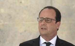 Le président de la République François Hollande s'exprime au ministère de la Défense le 13 juillet 2015 à Paris