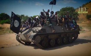 Des islamistes de Boko Haram dans une vidéo de propagande publiée le 9 novembre 2014.