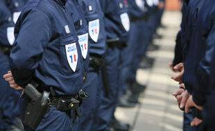 Au commissariat central de Toulouse, des policiers en tenue. (Illustration).