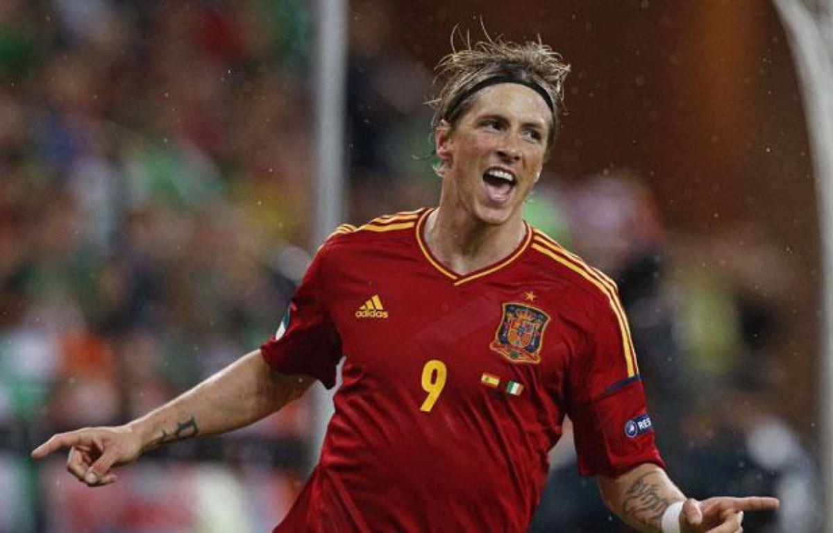 Fernando Torres célèbre son but contre l'Irlande à l'Euro, à Gdansk, le 14 juin 2012. – Michael Sohn/AP/SIPA