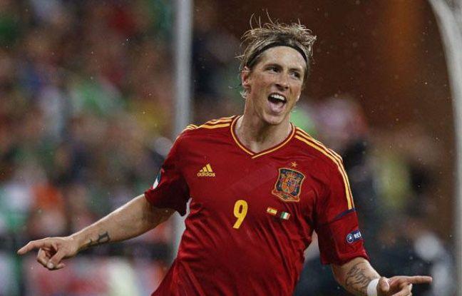 Fernando Torres célèbre son but contre l'Irlande à l'Euro, à Gdansk, le 14 juin 2012.