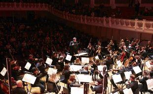 Les 66 musiciens de l'English Session Orchestra au Cadogan Hall de Londres, le 4 février 2019.