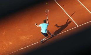 Le joueur français Nicolas Mahut, lors de son match à Roland-Garros, le 27 mai 2012.