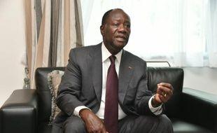 Le président ivoirien, Alassane Ouattara, le 22 octobre 2015 à Abidjan