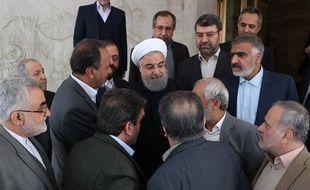 Le président Hassan Rohani le 1er janvier 2018 à Téhéran.