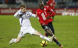 La pelouse du LOSC, en souffrance lors du match Lille-Toulouse, le 13 février 2011