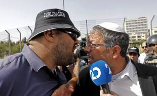 Israéliens et Palestiniens s'invectivant à Jérusalem, illustration