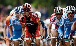 L'Espagnol Alberto Contador a remporté la course cycliste Milan-Turin en devançant ses compagnons d'échappée dans les 800 derniers mètres, mercredi sur la colline de Superga.