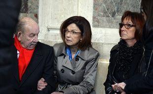 La mère d'Aurélie Fouquet durant le procès des meurtriers de sa fille, le 1er mars 2016.